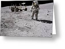 Apollo 16 Astronaut Collects Samples Greeting Card