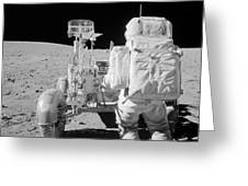 Apollo 16 Astronaut Reaches For Tools Greeting Card