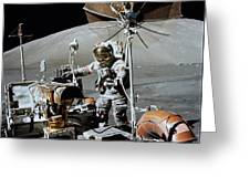 Apollo 17 Astronaut Approaches Greeting Card