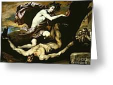 Apollo And Marsyas Greeting Card
