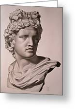 Apollo Bust Drawing Greeting Card
