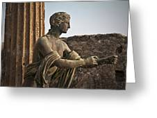 Apollo In Pompeii Greeting Card