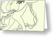 Apollo Pursuing Daphne Greeting Card