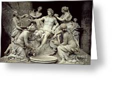 Apollo Tended By The Nymphs, Intended For The Grotto Of Thetis Greeting Card