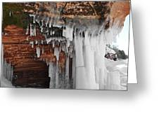 Apostle Islands Icicles Greeting Card