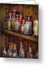 Apothecary - Inside The Medicine Cabinet  Greeting Card