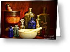 Apothecary - Tools Of The Pharmacist Greeting Card