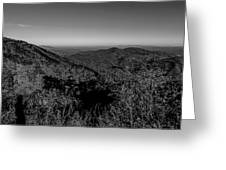 Appalachian Mountains From Mount Mitchell, The Highest Point In  Greeting Card