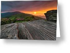 Appalachian Trail Roan Highlands Jane Bald Sunset Landscape Greeting Card