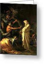 Apparition Of The Spirit Of Samuel To Saul Greeting Card by Salvator Rosa