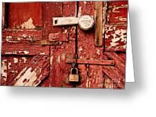 Appealing Barn Door Greeting Card