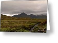 Appealing Scenic Landscacpe In Cuillen Hills Scotland  Greeting Card