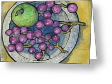 Apple And Grapes Greeting Card