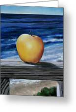 Apple By The Sea Greeting Card
