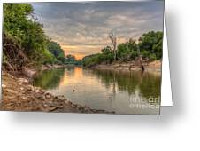 Apple Creek At Dusk Greeting Card