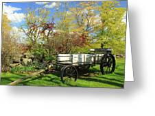Apple Farm Cart Greeting Card