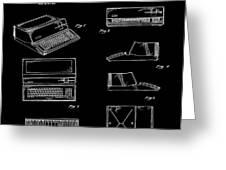 Apple Macintosh Patent 1983 Black Greeting Card