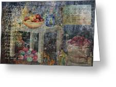 Apple Montage Greeting Card by Arline Wagner