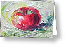 Apple On The Snow Greeting Card