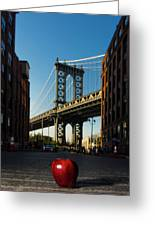 Apple On The Streets Greeting Card