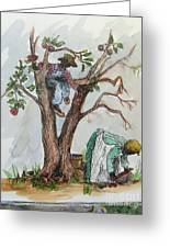 Apple Pickers Greeting Card