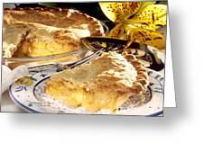 Apple Pie Dessert Greeting Card