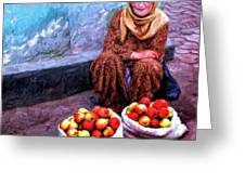Apple Seller Greeting Card