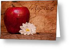 Apple With Daisy Greeting Card