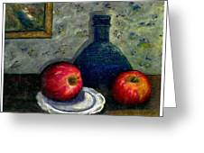 Apples And Bottles Greeting Card
