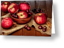 Apples And Cherries Greeting Card