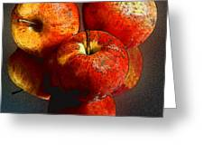 Apples And Mirrors Greeting Card by Paul Wear