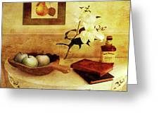 Apples And Pears In A Hallway Greeting Card
