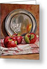 Apples And Pewter Greeting Card