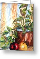 Apples And Plant Greeting Card