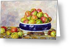 Apples In A Dish Greeting Card