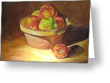 Apples In A French Bowl. Greeting Card