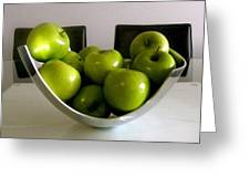 Apples In A Silver Vase Greeting Card
