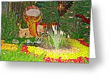 Apples In Autumn In Bellagio Conservatory In Las Vegas- Nevada Greeting Card