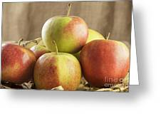 Apples In Basket Greeting Card