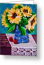 Apples  Sunflowers Greeting Card