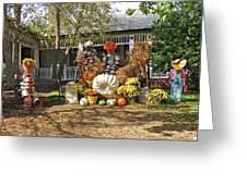 Applewood Farmhouse Grill Harvest Scene Greeting Card