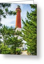 Approach To Barnegat Light Greeting Card