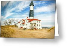 Approach To Big Sable Light Greeting Card