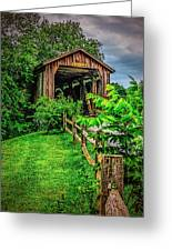 Approach To Hunseckers Mill Bridge Greeting Card