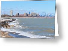 Approaching Chicago Greeting Card