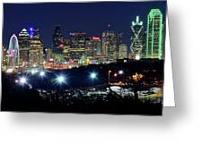 Approaching Dallas From Fort Worth Greeting Card