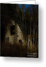 Approaching Darkness Greeting Card