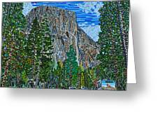 Approaching El Capitan Yosemite National Park Greeting Card