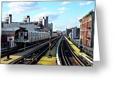 Approaching Myrtle Avenue Greeting Card