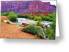 Approaching Navajo Falls Greeting Card